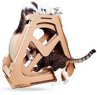 Roue pour chat en carton